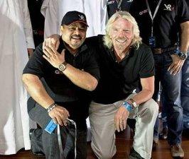 Vijay Eswaran with Richard Branson