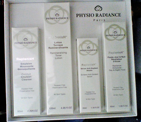 Physio Radiance anti-aging skin care
