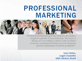 QNet adheres to professional marketing guidelines