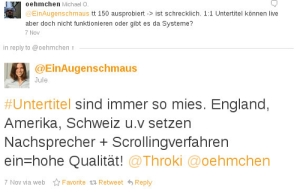 Probst's tweet in German