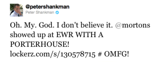 Shankman spreads the story to the Twitterverse